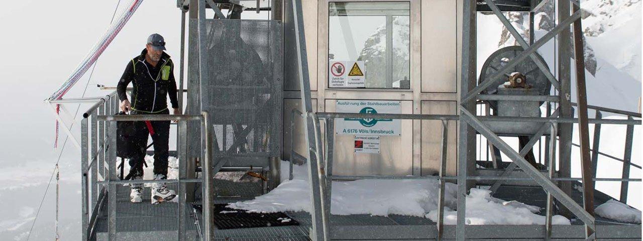Lawinensprengung Hafelekar Nordkettenbahn Innsbruck , © Tirol Werbung/Bert Heinzlmeier