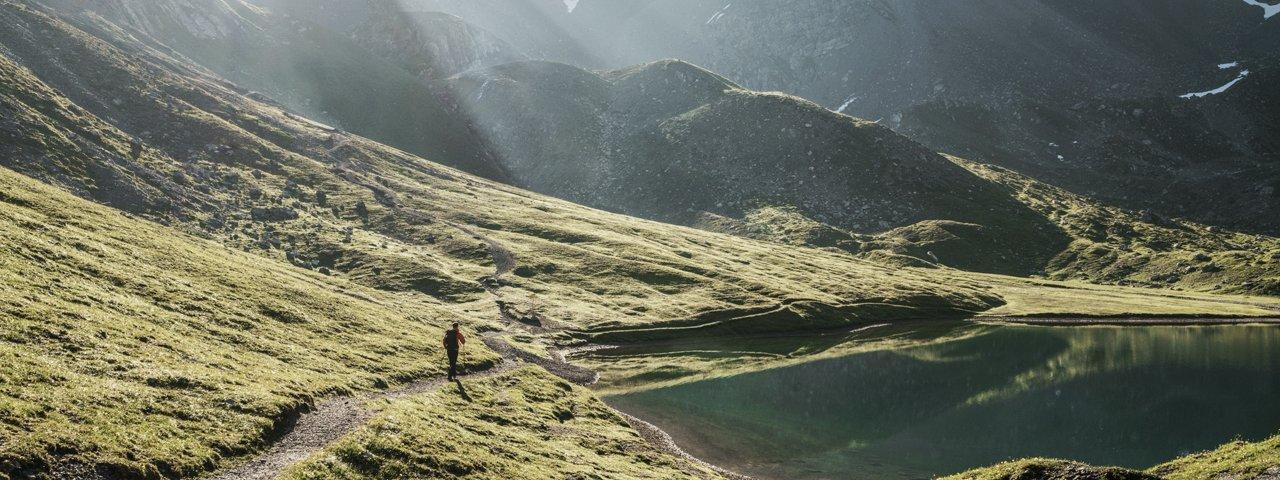 Jez. Steinsee na Lechtaler Höhenweg